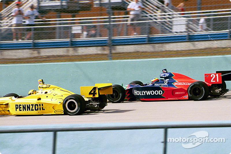 Sam Hornish Jr. and Felipe Giaffone