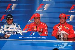 Press conference: Juan Pablo Montoya, Michael Schumacher and Rubens Barrichello