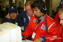 Don Panoz checking the operations