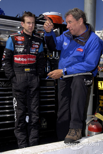 Kurt Busch and crew chief Jim Fenning