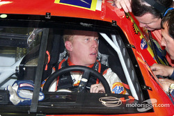 Ricky waites it out in the car