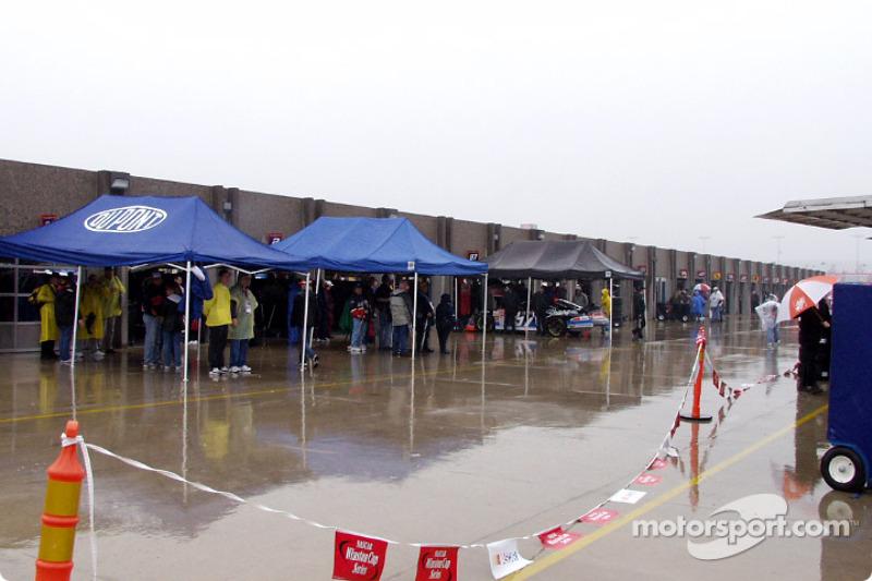 Garage area is a strange place when it rains