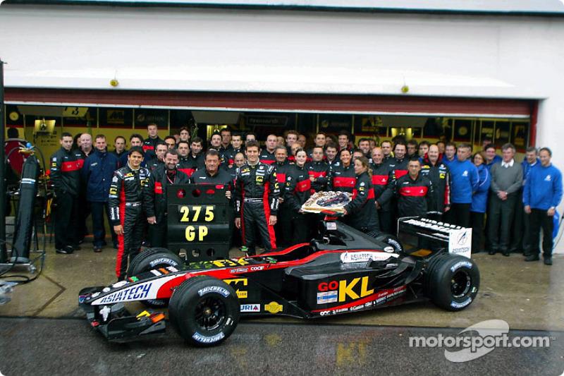 275 Grands Prix for Minardi