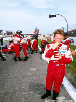 Allan McNish on the grid
