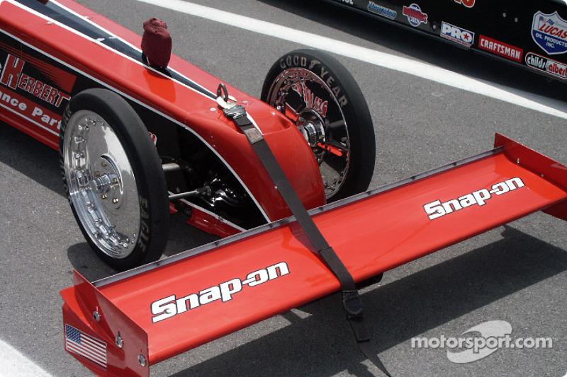 Nose of Doug Herbert's Top Fuel car