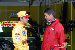 Laurent Aiello and race engineer Ludovic Lacroix