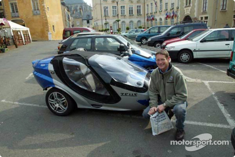 Gunnar Jeannette visiting the town of Le Mans