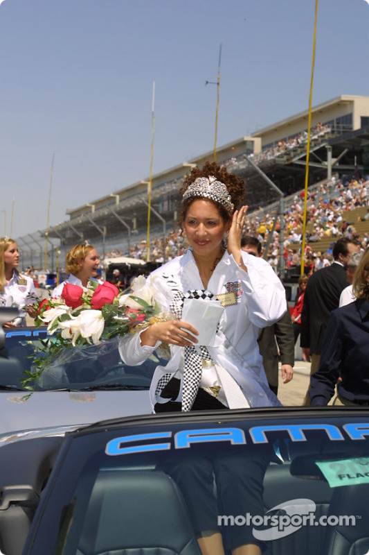 500 Festival Queen Lauren Crowner during opening day for the 86th running of the Indy 500
