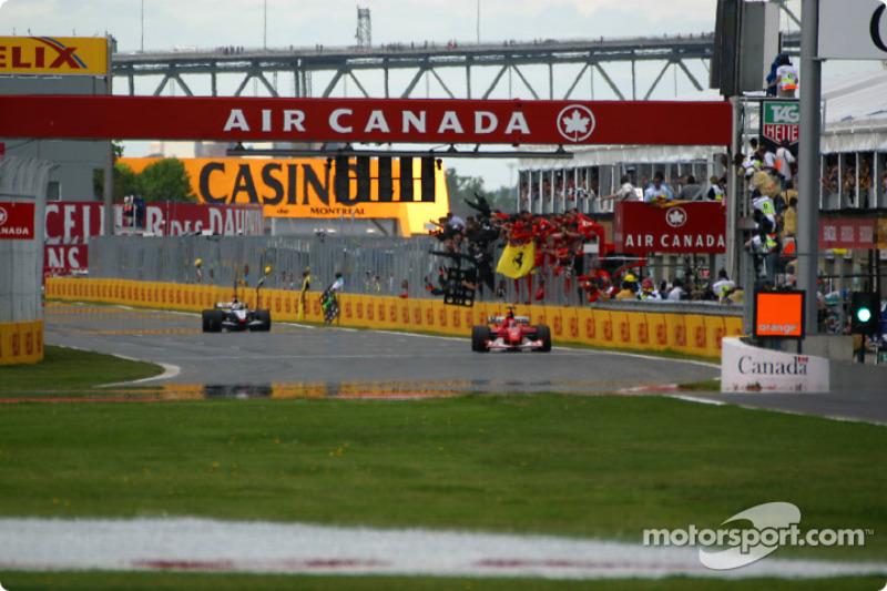 Checkered flag for Michael Schumacher