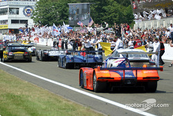 The traditional Le Mans finish
