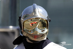 Reflection of Rubens Barrichello