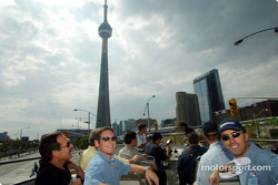 Visit of Toronto with ALMS drivers: Gunnar Jeannette and David Brabham