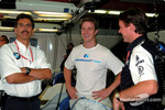 Dr. Mario Theissen, Ralf Schumacher and Sam Michael