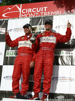 The podium: GT winners Bill Auberlen and Cort Wagner