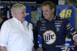 Rusty Wallace chats with NHIS track owner Bob Bahre