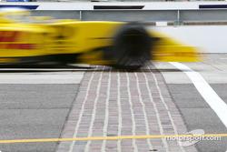 Giancarlo Fisichella crossing the Brickyard