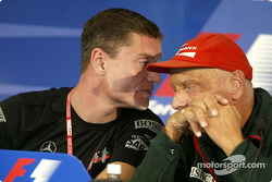 FIA Thursday press conference: David Coulthard and Niki Lauda