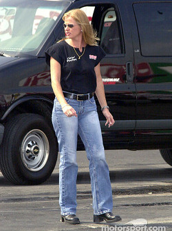 A member of Dale Creasy's pit crew