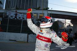 Emanuele Pirro celebrates