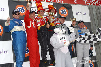 The podium: ST II winners Wayne Nonnamaker and Will Nonnamaker with Pierre Mandeville, Scooter Gabel, Peter Doane and Michiel Schuitemacker