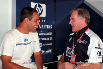 Juan Pablo Montoya and Patrick Head