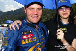 Tommi Makinen with a Subaru girl