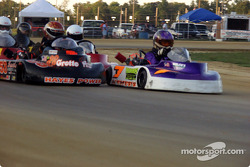 Shannon Morris and #58-Chad Reed lead Briggs Animal racers into turn one