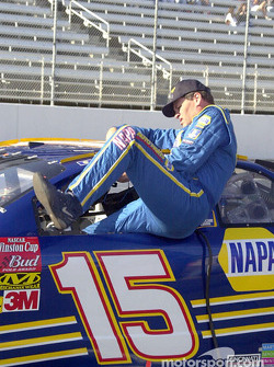 Michael Waltrip squeezing in