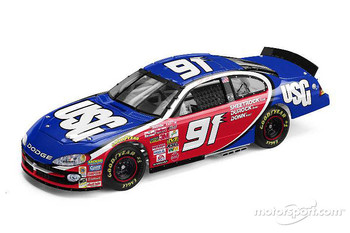 The USG No. 91 Evernham Motorsports Dodge Intrepid R/T that will compete in the Pop Secret 400 in Rockingham; Hank Parker Jr. will drive the car