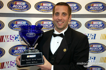 Greg Biffle also won the Most Popular Driver Award voted by the fans