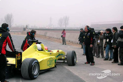 Alex Yoong and Dato Cam Soh in the Minardi F1x2