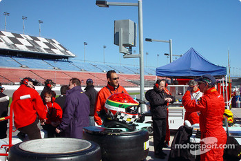 JMB Racing USA Team pit area