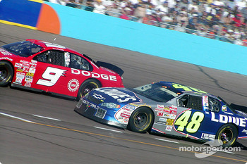 Bill Elliott and Jimmie Johnson