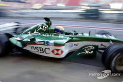 Mark Webber tests the new Jaguar R4