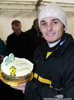 Giancarlo Fisichella celebrates his birthday
