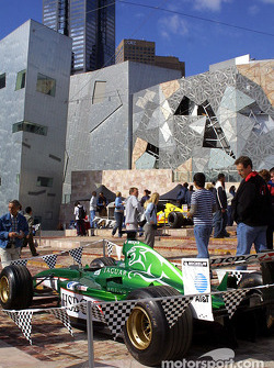 Formula 1 exhibit on Federation Square