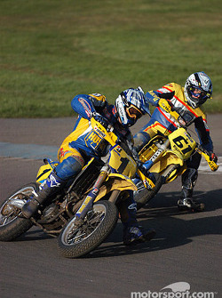 Warren Steele leads Christian Iddon out of last turn