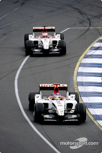Jacques Villeneuve leads Jenson Button