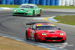 A pair of Ferrari 550 Maranellos circulates at Sebring