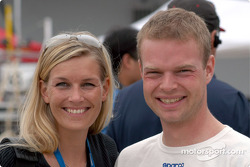 Jan Magnussen and his lovely financée Christina