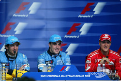Press conference: pole winner Fernando Alonso, Jarno Trulli and Michael Schumacher