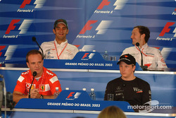 Thursday press conference: Rubens Barrichello, Kimi Raikkonen, Antonio Pizzonia and Cristiano da Matta