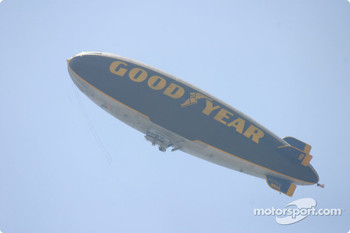 Good Year blimp on duty