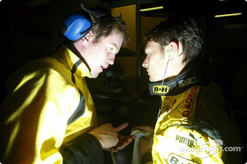 Race engineer Rob Smedley with Giancarlo Fisichella