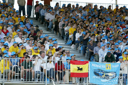 Blue and yellow: Fernando Alonso's fans