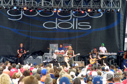 The Goo Goo Dolls perform during pre-race activities