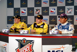 Press conference: race winner Ed Carpenter with Mark Taylor and Cory Witherill