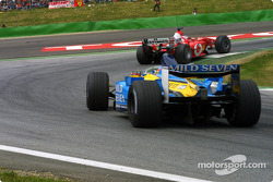 Rubens Barrichello and Fernando Alonso