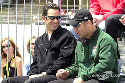 Close friends and competitors, Helio Castroneves and Tony Kanaan
