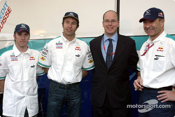 Nick Heidfeld, Heinz-Harald Frentzen, Prince Albert of Monaco and Peter Sauber